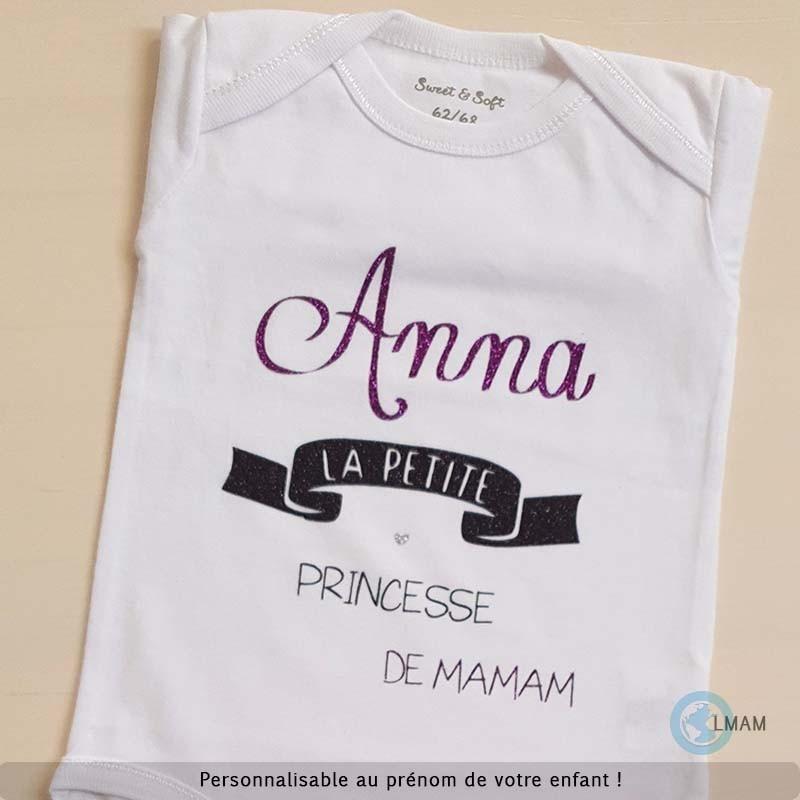 Body bébé et t-shirt personnalisé   petite princesse de maman 7569fc9e4b7