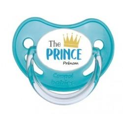 Tétine The prince bleu personnalisable prénom enfant