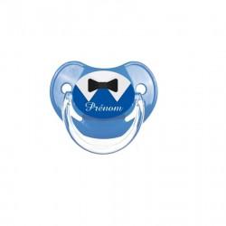 Tétine nœud de cravate bleu et noir