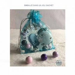 Sachet cadeau bleu (couleur non contractuelle)