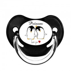 Tétine personnalisable bébé pingouin