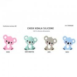 Koalas en silicone pour soulager les poussées dentaires de bébés.