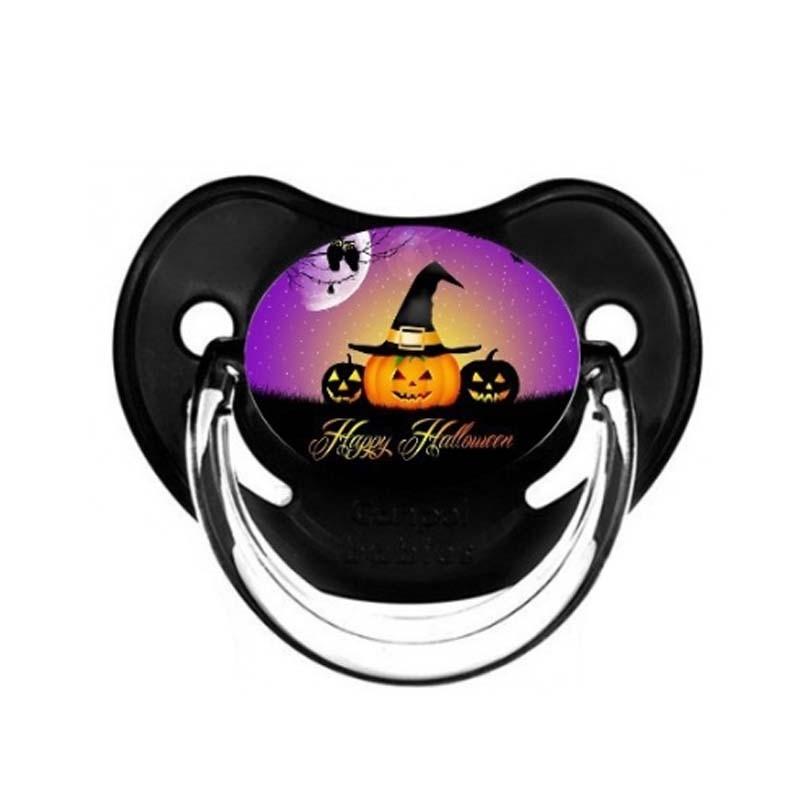Tétine personnalisable bébé chapeau citrouille Halloween