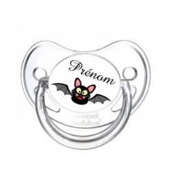 Tétine personnalisable chauve souris noire pour Halloween