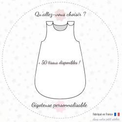 Gigoteuse personnalisée pour bébé - Créez-la votre : plus de 50 tissus disponibles