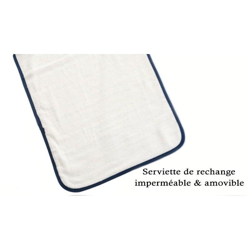 Serviette de rechange vendue à l'unité pour nos tapis à langer nomade pour bébés.