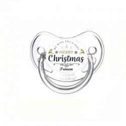 tétine personnalisée avec prénom de l'enfant : Merry Christmas