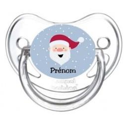 tétine personnalisée avec prénom de l'enfant : Père Noël