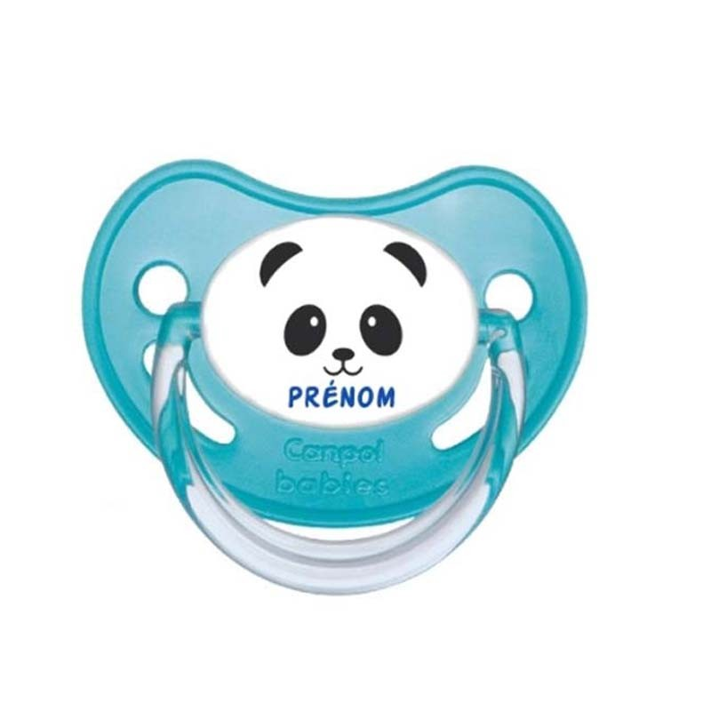 Tétine personnalisable panda garçon
