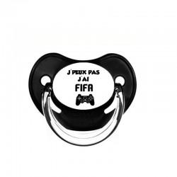 tétine personnalisée : je peux pas j'ai FIFA