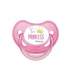 tétine personnalisée : The princess avec sa couronne d'or
