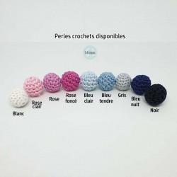 Couleurs perles crochets 14 mm disponibles - personnalisation collier d'allaitement/portage.