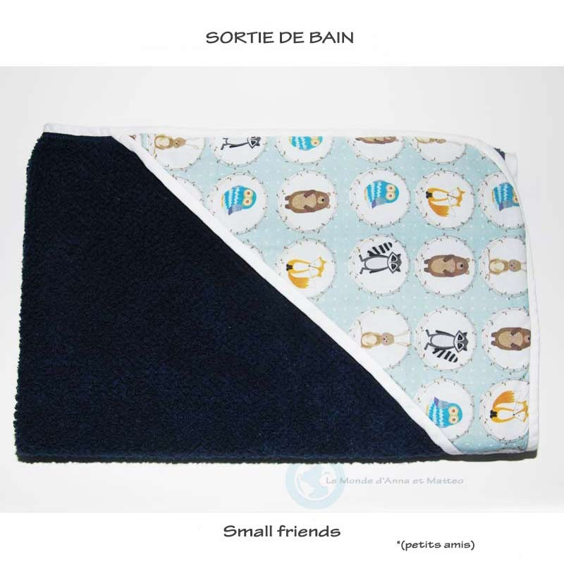 "Sortie de bain ""small friends"""