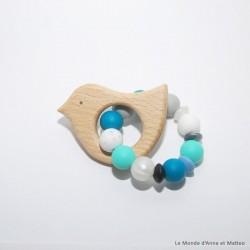 Anneau de dentition oiseau bleu foncé