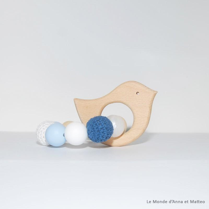 Anneau de dentition oiseau bleu clair