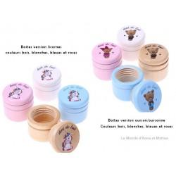 Boites dents de lait licornes et ours/oursonnes disponibles dans nos autres produits.