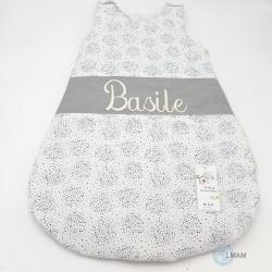 Gigoteuse BIO GOTS blanche et grise 100 % coton idéal cadeau de naissance / kit de naissance.