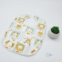 Bavoir bébé lion qui couvrira parfaitement les vêtements de votre bébé.