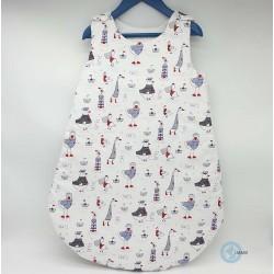 gigoteuse blanche et bleu sobre et classe pour bébé