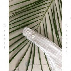 Bavoir Bandana beige et blanc