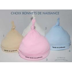 Bonnets de naissance - Coton BIO