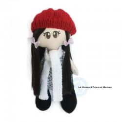 Présentation : Rosie habillée de son bonnet et de son écharpe