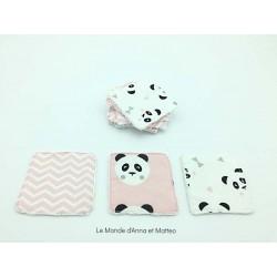 Lingettes lavables bébé - 8 x 8 cm.
