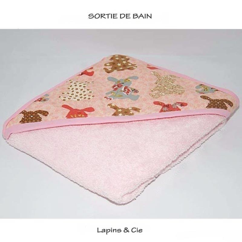 """Sortie de bain """"lapins et cie"""""""