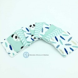 Lingettes lavables bébé - 8 x 8 cm