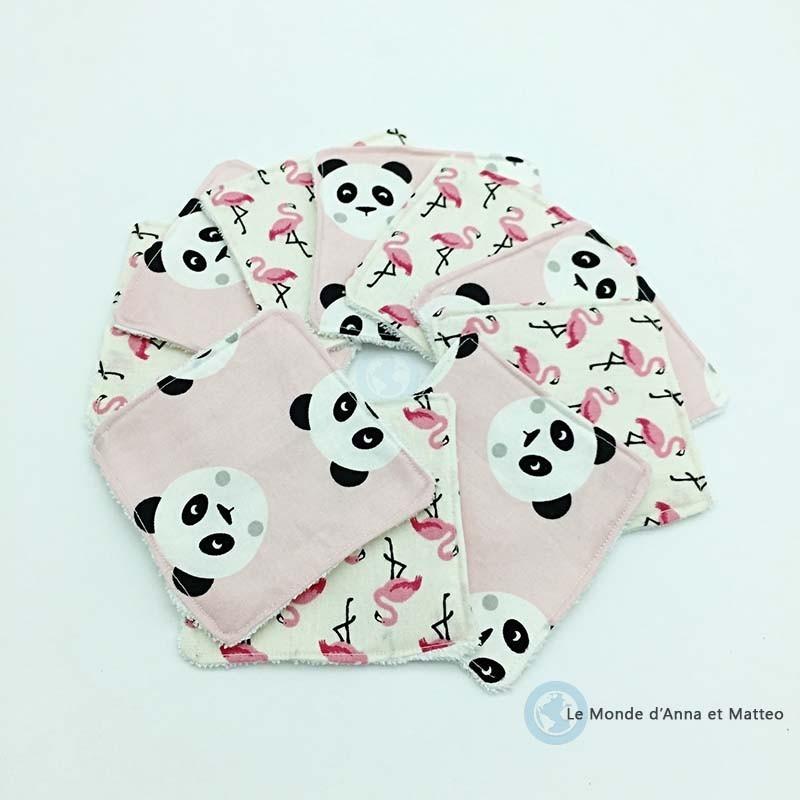 Lingettes lavables bébé - Zéro déchet - 8 x 8 cm