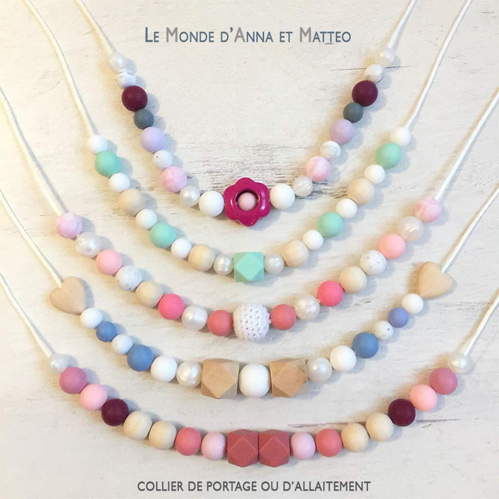 Colliers de portage et d'allaitement Le Monde d'Anna et Matteo