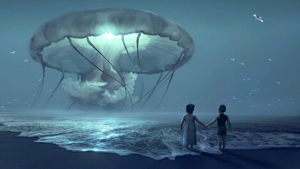 méduse et enfants à la plage - piqûre de méduse