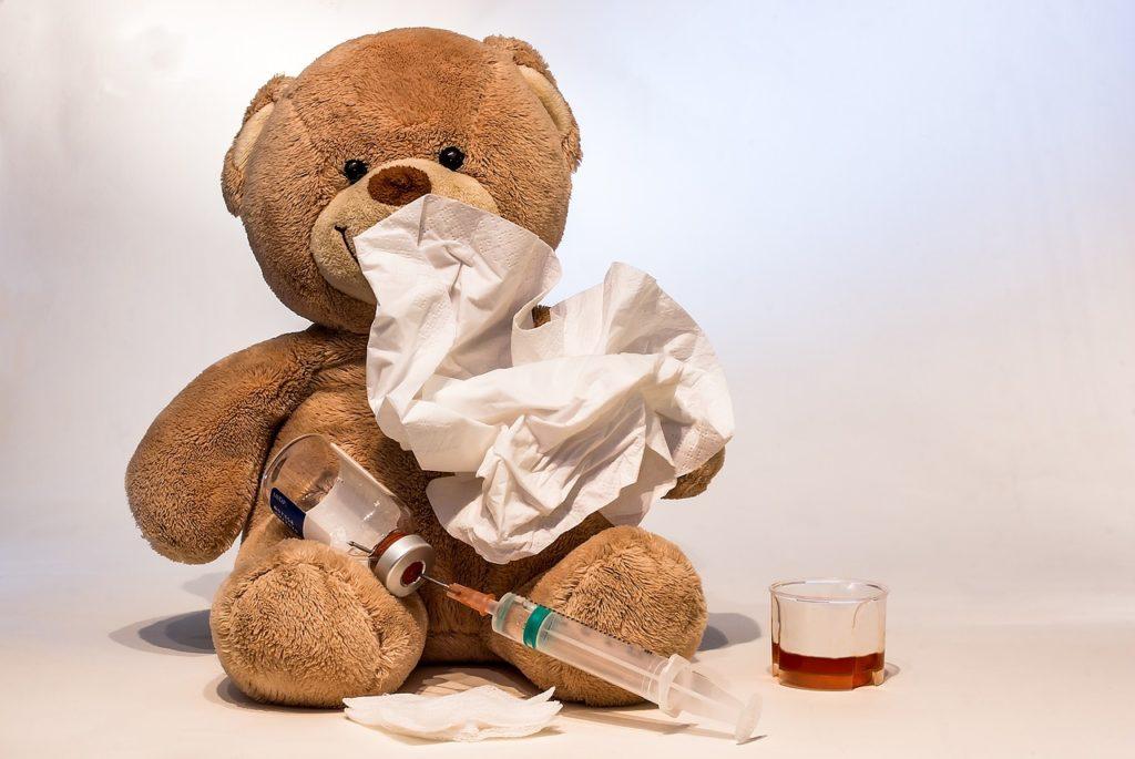 nounours malade grippe
