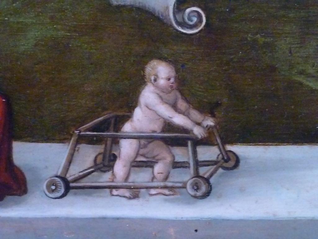 trotteur bébé moyen age